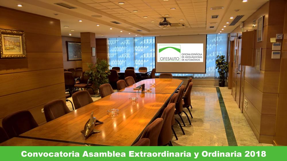 Convocatoria Asamblea General Extraordinaria y 65 Asamblea General Ordinaria 2018