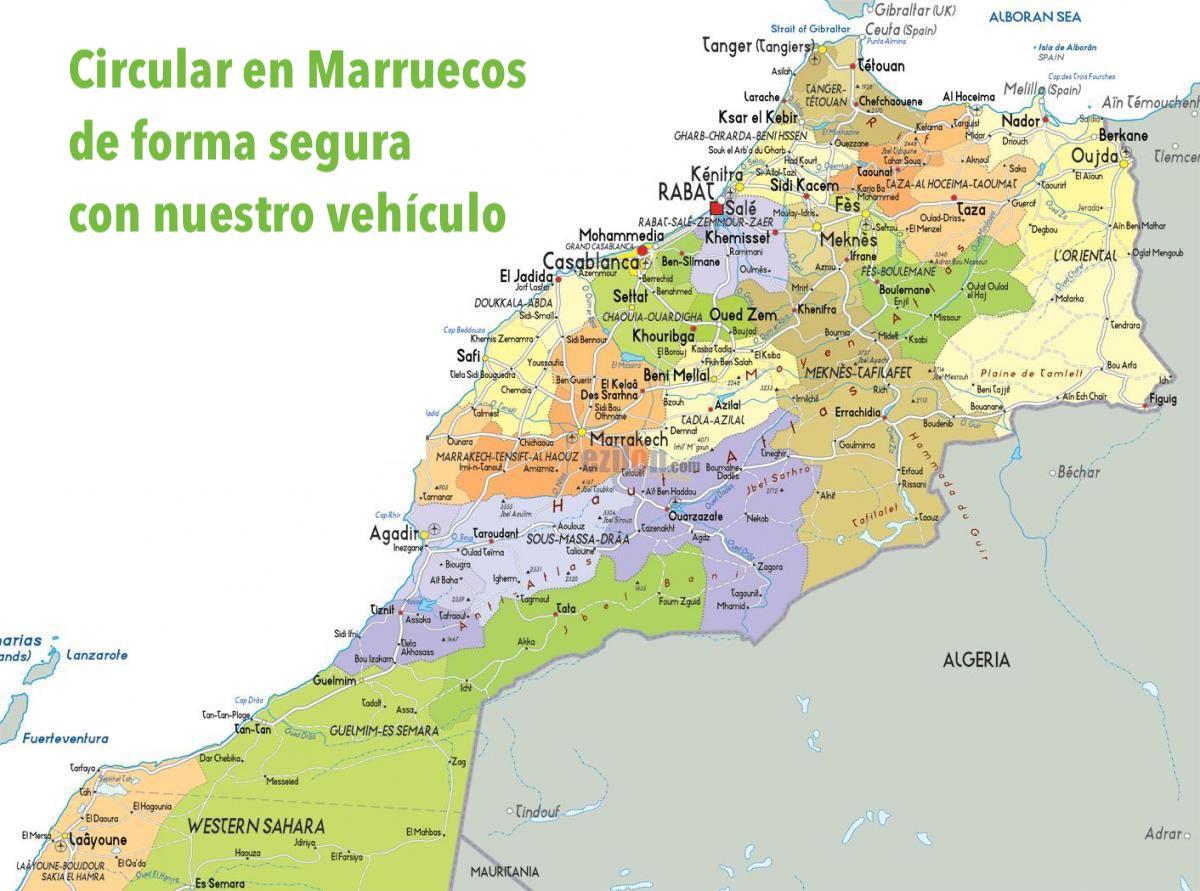 Mapa De Marruecos Ciudades.Mapa Ciudades Marruecos Ofesauto